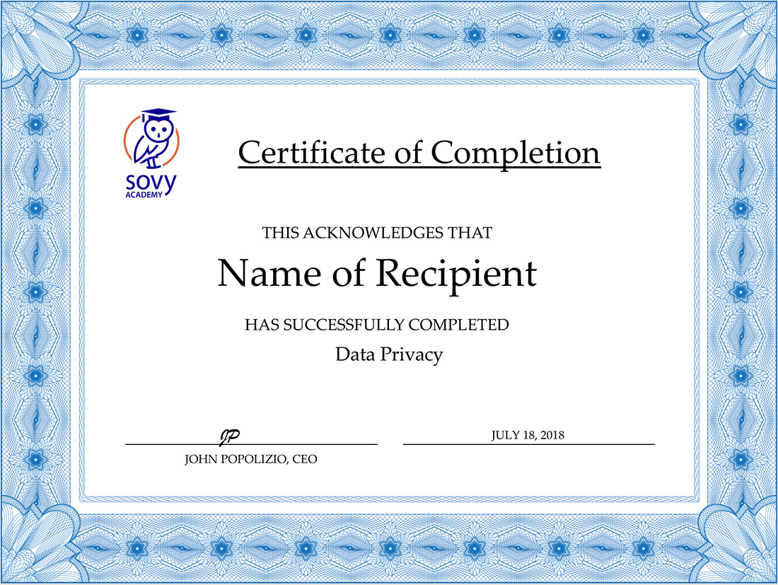 Data Privacy Online Training